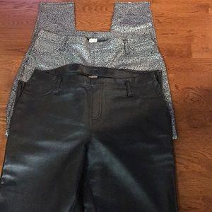 2 pairs of dressy leggings/pants